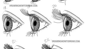 Drawing An Eye Steps How to Draw Realistic Eyes From the Side Profile View Step by Step