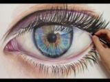 Drawing An Eye Time Lapse 194 Best Colored Pencil Facial Features Hair Images Drawing Tips
