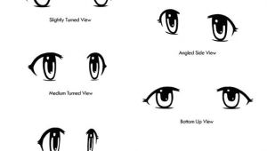 Drawing Anime Eyes Tutorial Anime Eyes Drawn From Different Angles Drawing Tipsa A Official