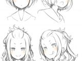 Drawing Anime Girl Head Pin by Megan Foxx On Gems Drawings Anime Hair Manga Drawing