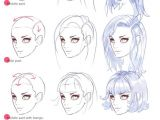 Drawing Anime Head Tutorial Hair Tutorials Drawing Guides Drawings How to Draw Hair