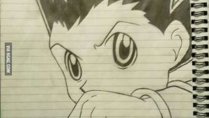 Drawing Anime Hunter X Hunter Anyone is Interested In Hunter X Hunter My Hand Drawing Gon