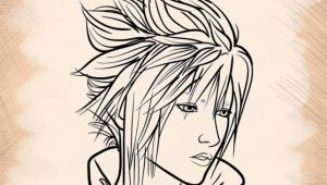 Drawing Anime I Pad Drawing Anime Finalfantasy On the App Store