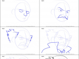 Drawing Anime Nose and Mouth How to Draw Makarov Dreyar From Fairy Tail Printable Step by Step
