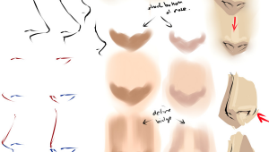 Drawing Anime Noses Front View Drawing Anime Noses by Moni158 Deviantart Com Art Drawing