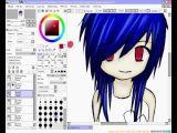 Drawing Anime Paint tool Sai Anime Girl Speed Draw Paint tool Sai Youtube