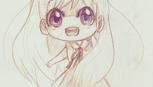 Drawing Anime Smile A Anime Art A Chibi Big Eyes Smile Drawing Pencil