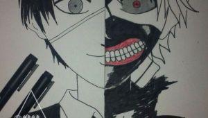 Drawing Anime tokyo Ghoul Kaneki Ken tokyo Ghoul Draw Pinterest tokyo Ghoul