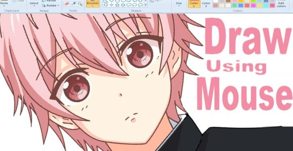 Drawing Anime Using Computer A How I Draw Anime Using Mouse On Ms Paint I A A I Youtube