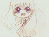 Drawing Anime with Pencil A Anime Art A Chibi Big Eyes Smile Drawing Pencil