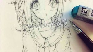Drawing Anime Woman Kawaiiiii Anime Girl Drawing Sketch In 2019 Pinterest Drawings