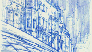 Drawing Backgrounds for Animation Living Lines Library Les Triplettes De Belleville the