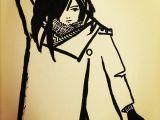 Drawing Cartoon Hair In Illustrator ashya Lane Spollen Reaching for A Sword Ink and Brush Pen Badass