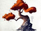 Drawing Cartoon Landscapes Artstation Trees Anastasia Walker Art Ideas Environment