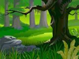 Drawing Cartoon Landscapes Free forest Landscape Vector Background Woodland themed Party In