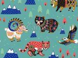 Drawing Cartoon Mountains Seamless Pattern with Mountain Animals Seamless Pattern Of Mountain