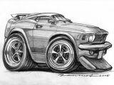 Drawing Cartoon Muscle Cars ford Mustang Artist Azater Car toon Art Pinterest Cars
