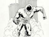 Drawing Cartoon Ring the Flash original Comic Art Chris Ring Ebay Comic Book Artwork