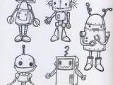 Drawing Cartoon Robots 25 Best Robot Images Draw Character Design Illustrators