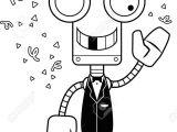 Drawing Cartoon Robots A Cartoon Party Robot Looking Silly Royalty Free Cliparts Vectors