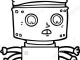 Drawing Cartoon Robots Cartoon Robot King Stock Vector Art Illustration Vector Image