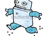Drawing Cartoon Robots Cartoon Running Robot Stock Illustration Royalty Free Stock