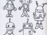 Drawing Cartoon Robots Such Character and Detail In A Limited Environment Da Colorare
