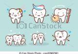 Drawing Cartoon Teeth Cute Cartoon tooth Brush Concept Cute Cartoon tooth Brush and Clean