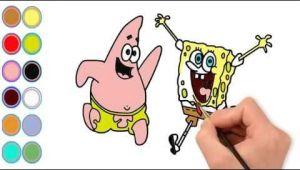 Drawing Cartoon Teeth Draw Cartoon Spongebob and Color Cartoon Spongebob I Learn Color for