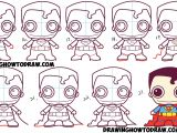 Drawing Cartoons Chibi How to Draw Cute Chibi Superman From Dc Comics In Easy Step by Step