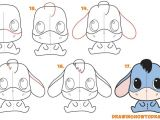 Drawing Cartoons Chibi Learn How to Draw A Cute Chibi Kawaii Eeyore Simple Steps Lesson