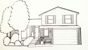 Drawing Cartoons House Custom House Drawing and Stationary 35 00 Via Etsy This is My