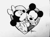 Drawing Cartoons Love Cartoon Cute Disney Draw Love Mickey Minnie Rose I Love You