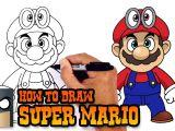 Drawing Cartoons Mario How to Draw Super Mario Super Mario Odyssey Youtube