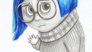 Drawing Cartoons Movie Sadness From Inside Out Movie Color Drawing Diy Drawings
