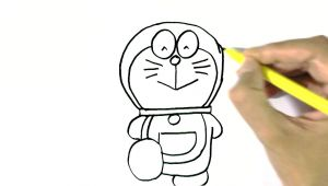 Drawing Cartoons Step by Step for Beginners How to Draw Doraemon In Easy Steps for Children Beginners Youtube