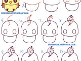 Drawing Cartoons Tutorials for Beginners How to Draw Cute Kawaii Chibi Moltres From Pokemon In Easy Step
