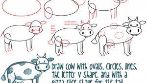 Drawing Cartoons Using Basic Shapes Big Guide to Drawing Cartoon Cows with Basic Shapes for Kids