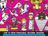 Drawing Cartoons with Numbers Bol Com How to Draw Princesses Unicorns Dragons Step by Step