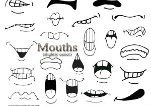 Drawing Cartoons Worksheet Secondary Mouths Easiest Drawings Pinterest Drawings Cartoon