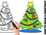 Drawing Cute Christmas Tree How to Draw A Christmas Tree A Cute Easy Drawing Tutorial for