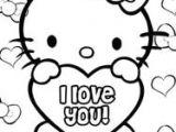 Drawing Cute Hello Kitty Hello Kitty Valentines Coloring Pages Coloring Hello Kitty