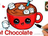 Drawing Cute Nutella How to Draw Hot Chocolate with Marshmallows Cartoon Food Youtube