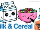 Drawing Cute Nutella How to Draw Milk and Cereal Step by Step Cute and Easy Cartoon