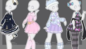 Drawing Cute Outfits Gacha Anime Gacha Outfits 16 by Kawaii Antagonist On Deviantart