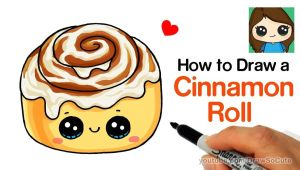 Drawing Cute Taco How to Draw A Cinnamon Roll Cute and Easy Kids Fun Stuff In 2019
