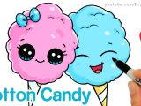 Drawing Cute Things Youtube How to Draw Cotton Candy Easy Cartoon Food Youtube