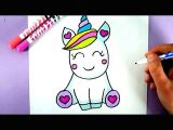 Drawing Cute too How to Draw A Super Cute and Easy Unicorn Youtube Draw In 2019