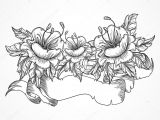 Drawing Detailed Flowers Vintage Floral Highly Detailed Hand Drawn Bouquet Of Flowers and