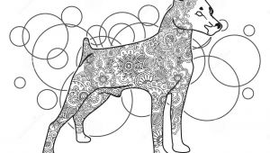 Drawing Dog Doodle Black and White Hand Drawn Dog In Doodle Animal Paisley Adult Stress